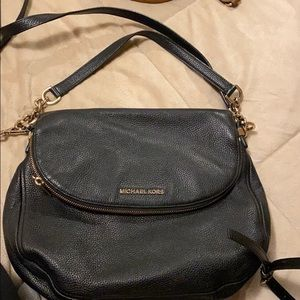 Michael Kors black leather purse